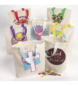 1 Religious Mini Tote Bag #36/2237-SHIPS ASSORTED