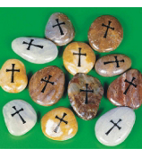 One Dozen Cross Worry Stones #36/580