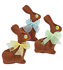 12 Plush Chocolate Bunnies #37/1220
