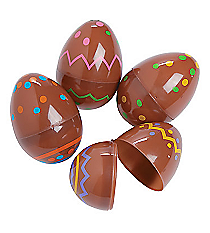 72 Chocolate Candy-Printed Easter Eggs #37/1242