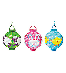 3 Light-Up Easter Lanterns #37/1246
