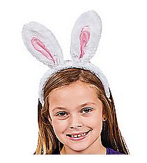 1 Plush Bunny Ears Headband #37/1381