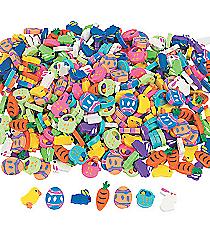 500-Piece Mini Easter Erasers Mega Assortment #37/356