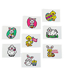 72 Temporary Easter Tattoos #37/384