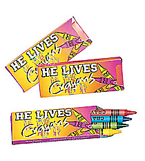 "24 ""He Lives!"" Crayon Packs #37/417"