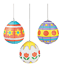 3 Easter Egg Lanterns #37/462