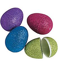 12 Plastic Glitter Easter Eggs #37/4674