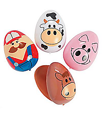 12 Farm Animal Easter Eggs #37/4681