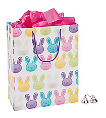 12 Paper Easter Bunny Medium Gift Bags #37/4695