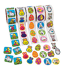5 Rolls Easter Sticker Assortment #37/847