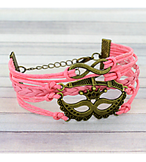 Multi-Strand Infinity, Eiffel Tower, and Masquerade Mask Bracelet #3710