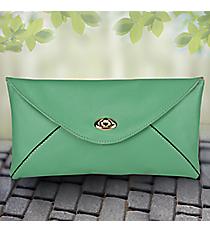 Aqua Adalyn Envelope Clutch #37373