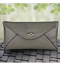 Gray Adalyn Envelope Clutch #37374