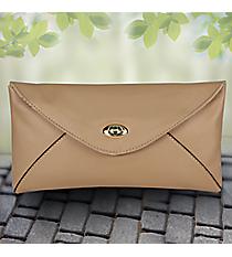 Taupe Adalyn Envelope Clutch #37376