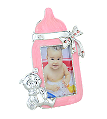 Pink Baby Bottle Photo Frame #37695