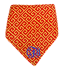 Cardinal Red and Yellow Greek Key Throw #37997