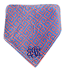 Pink and Blue Greek Key Throw #37999