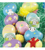 2 Dozen Plastic Toy-Filled Printed Eggs #4F-37/479