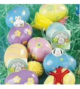 2 Dozen Plastic Toy-Filled Printed Eggs #4F-37/479