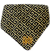 Black and Gold Greek Key Throw #38000