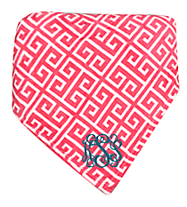 Rose Pink and White Greek Key Throw #38003