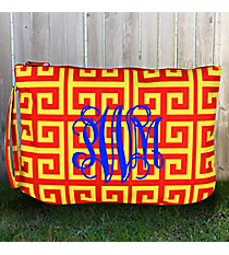 Cardinal Red and Yellow Greek Key Bikini Bag #38092