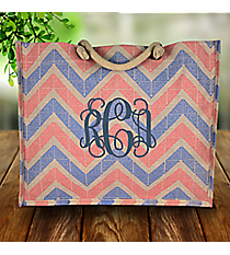 Pink and Blue Greek Key Chevron Classic Juco Bag #38111