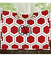 Red, White, and Gray Honeycomb City Juco Bag #38633