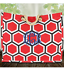 Red, White, and Black Honeycomb City Juco Bag #38634