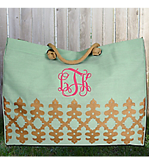 Sky and Gold Orleans Glamour Juco Bag #38637