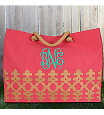 Pink and Gold Orleans Glamour Juco Bag #38640