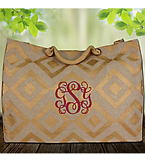 Natural and Gold Diamond Glamour Juco Bag #38647