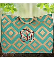 Turquoise and Gold Diamond Glamour Juco Bag #38650