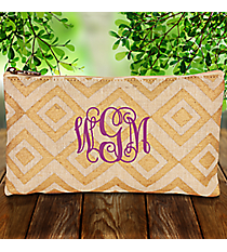 Natural and Gold Diamond Glamour Juco Cosmetic Bag #38653
