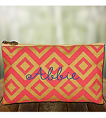 Pink and Gold Diamond Glamour Juco Cosmetic Bag #38655