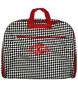 Houndstooth Print Garment Bag with Red Trim #GM40-606-R