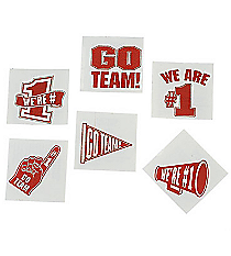 "72 Red ""Go Team"" Tattoos #39/2087"