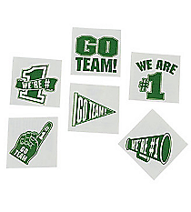 "72 Green ""Go Team"" Tattoos #39/2088"