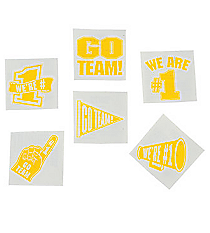 "72 Yellow ""Go Team"" Tattoos #39/2093"