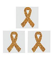 One Dozen Yellow Ribbon Glitter Tattoos #39/2126
