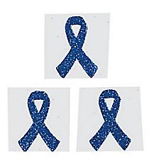 One Dozen Blue Ribbon Glitter Tattoos #39/2129