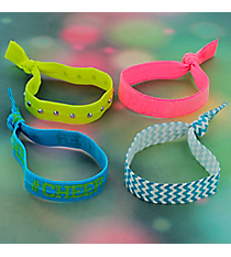 Set of 4 Cheer Hair Ties/Bracelets #39130