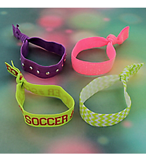 Set of 4 Soccer Hair Ties/Bracelets #39131