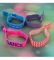 Set of 4 Dance Hair Ties/Bracelets #39132