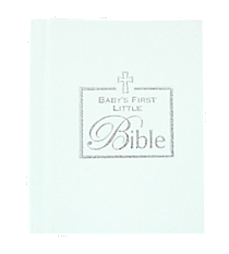 White Baby's First Bible #39316