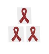 One Dozen Red Ribbon Glitter Tattoos #39/2125