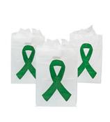 50 Green Ribbon Plastic Treat Bags #3/3887