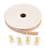 One Roll of 2000 Yellow Ribbon Tickets #3/3891