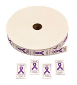 One Roll of 2000 Purple Ribbon Tickets #3/3895