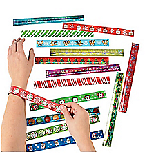 50 Holiday Slap Bracelet Assortment #4/5031